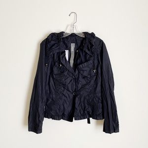 Add Down   Black Lightweight Rain Jacket